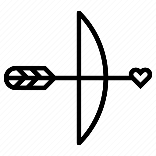 arrow, cupid, heart, love, valentines day, wedding icon