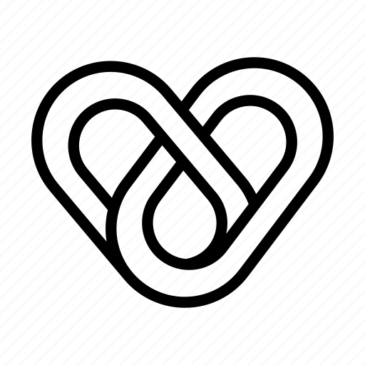 escher heart, geometry, heart, like, love, valentines day, wedding icon