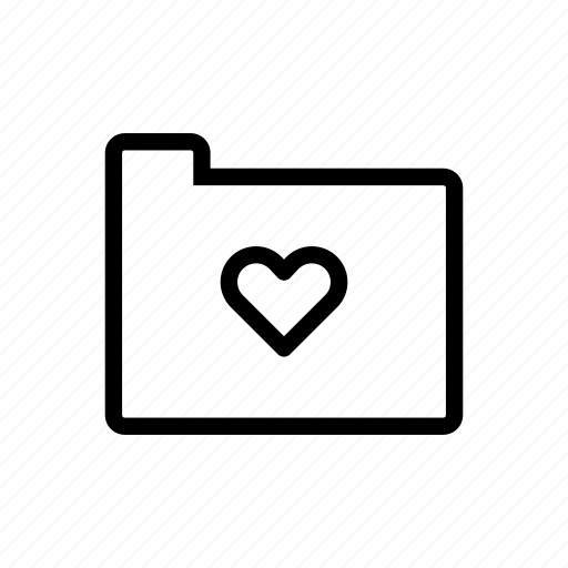 file, folder, heart, love, romance, valentines day, wedding icon