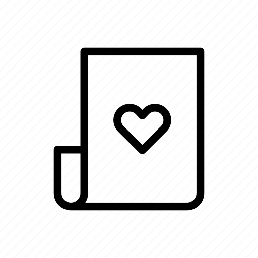 document, heart, letter, love, valentines day, wedding icon