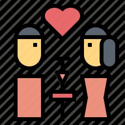 date, day, dinner, love, romantic, valentines icon