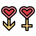 gender, love, man, woman icon