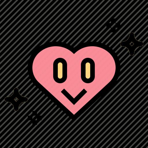 heart, like, lover, peace icon