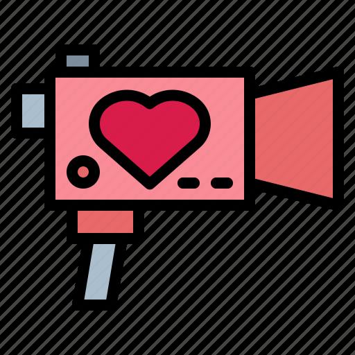 camera, film, video, wedding icon