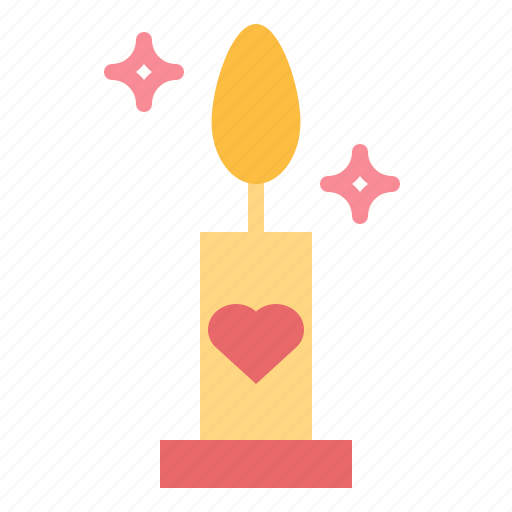 candle, christmas, decoration, love icon