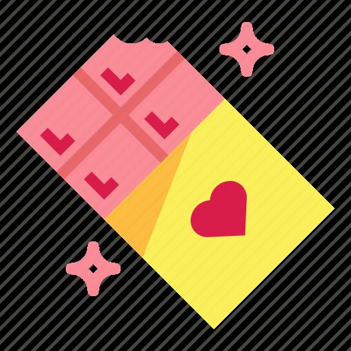 bar, chocolate, snack, valentines icon