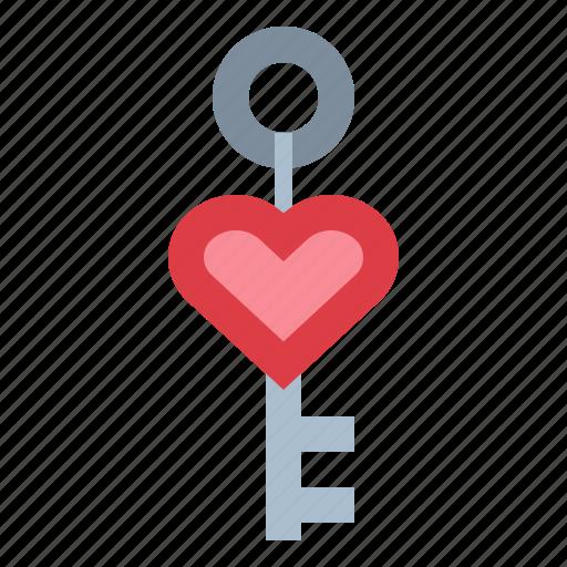 chain, day, heart, key, love, valentines icon