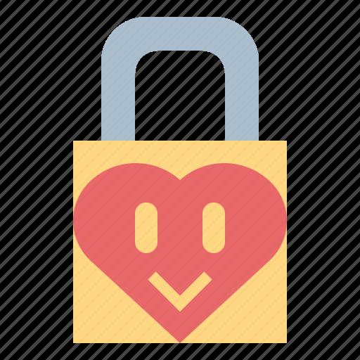 locked, love, padlock, security icon