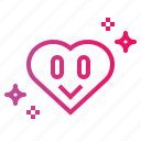heart, like, lover, peace icon