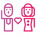 heart, love, peace, romance icon