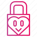 locked, love, padlock, security icon