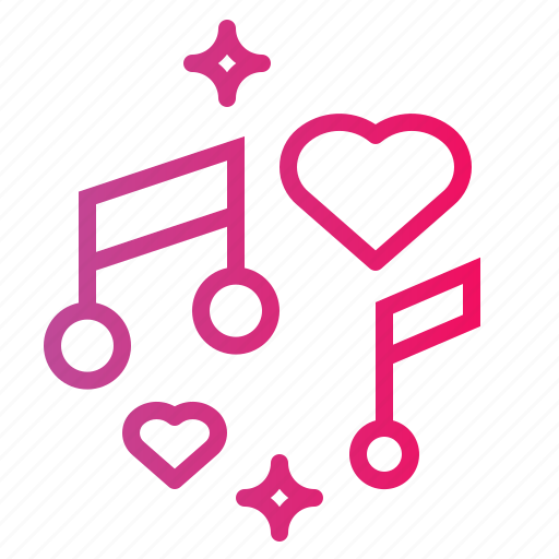 day, musical, note, romantic, song, valentines icon