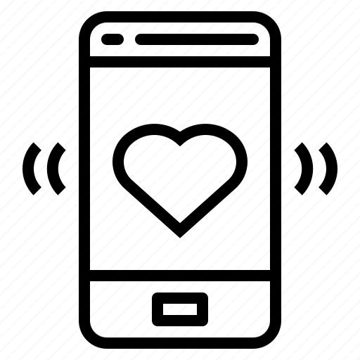 communications, love, mobile, phone, smartphone icon