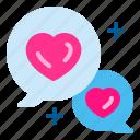 app, chat, conversation, heart, love, wedding