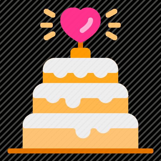 cake, heart, love, party, wedding icon