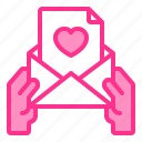heart, invitation, love, mail, wedding