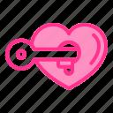 heart, key, love, unlock, wedding
