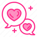 app, chat, conversation, heart, love, wedding icon
