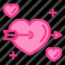 angel, arrow, heart, love, wedding icon