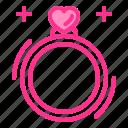 diamond, heart, love, ring, wedding