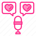 chat, heart, love, talk, wedding icon