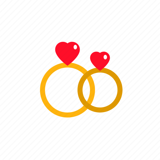 engagement, marriage, rings, romantic, wedding icon
