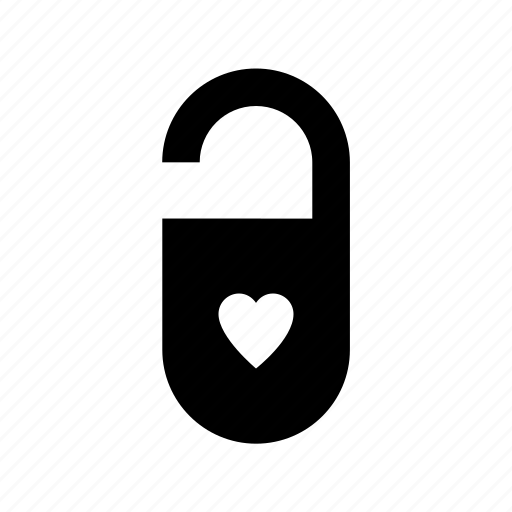 heart lock, love inspiration, privacy, romantic, secret feelings icon