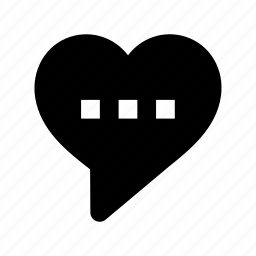compassion, heart bubble, heart sign, love chat, speech bubble icon