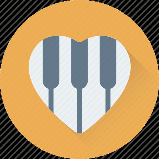 Clavichord, grand piano, harpsichord, heart, pianoforte icon - Download on Iconfinder