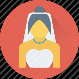 bridal, bride, girl, lady, marriage icon