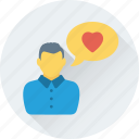 chat bubble, conversation, love chat, love message, romantic chat icon