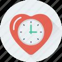 clock, heart, love, timepiece, timer