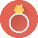 diamond ring, jewel, jewellery, ring, wedding ring icon