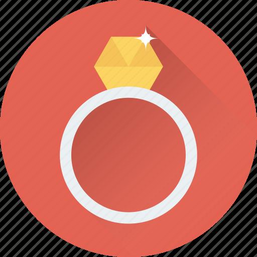 diamond ring, jewel, jewellery, ring, wedding ring icon