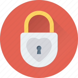 lock, padlock, privacy, romantic, secret icon