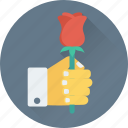 bouquet, in love, proposal, romantic, valentine icon
