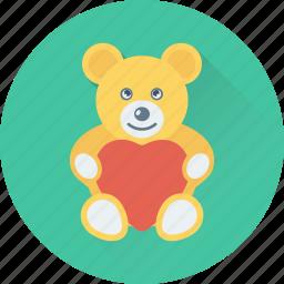 teddy, teddy bear, toy, toy teddy, valentine gift icon