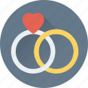 gem ring, gift, heart rings, rings, wedding ring icon
