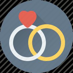 gem ring, gift, heart rings, rings, wedding ring icon
