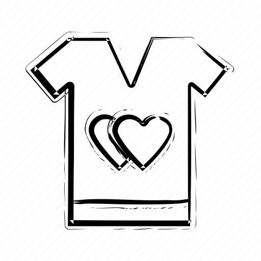 hearts sign, love, romantic, tee shirt, valentine day icon icon