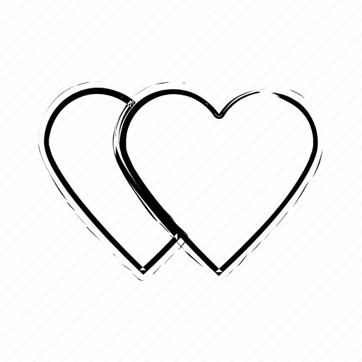 affection, love, love hearts, lovers, two hearts icon icon