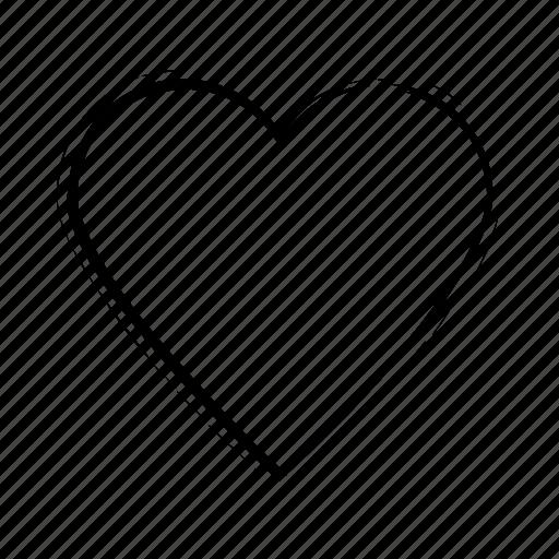 black, heart, hearts, love, romance, romantic, shape, symbol, valentines icon