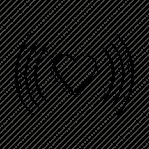 affection, feelings, heartbeat, in love, love, rhythm icon icon