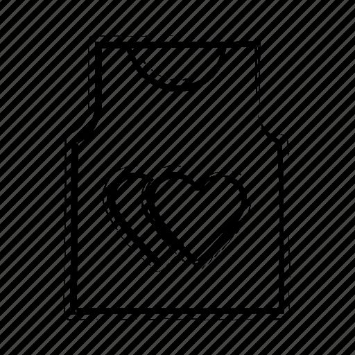 hearts sign, love, romantic, shirt, valentine day icon icon