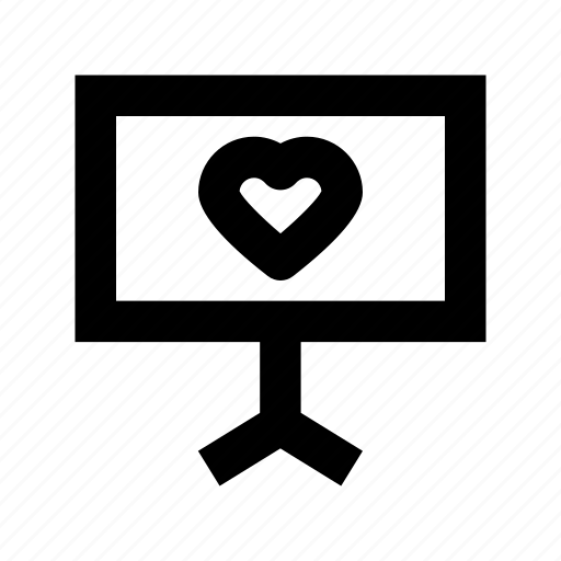 heart, love chatting, lover chatting, monitor, romantic chat icon