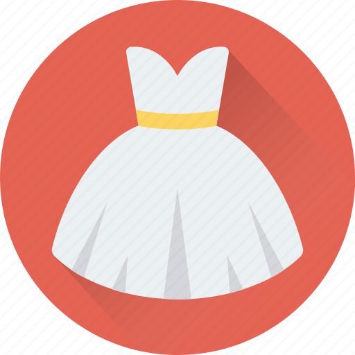 clothing, party wear, wedding dress, wedding gown, woman dress icon