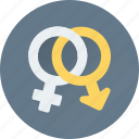 female, gender symbols, male, relationship, sex symbols icon