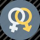 female, gender symbols, male, relationship, sex symbols