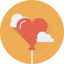 balloon, birthday, cloud, heart balloon, party icon
