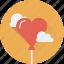 balloon, birthday, cloud, heart balloon, party